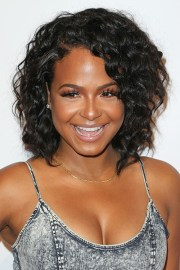 christina milian curly black afro