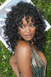 keke palmer curly black afro choppy
