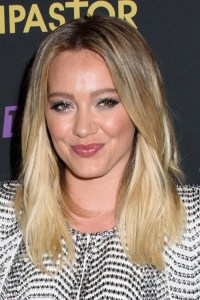 Hilary Duff Straight Medium Brown Two-Tone Hairstyle ...