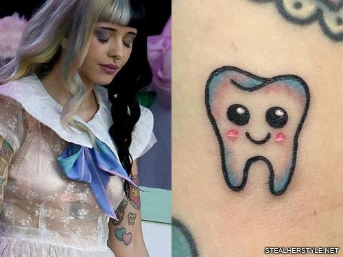 Melanie Martinez Wallpaper Cute Pixel Melanie Martinez Tooth Upper Arm Tattoo Steal Her Style