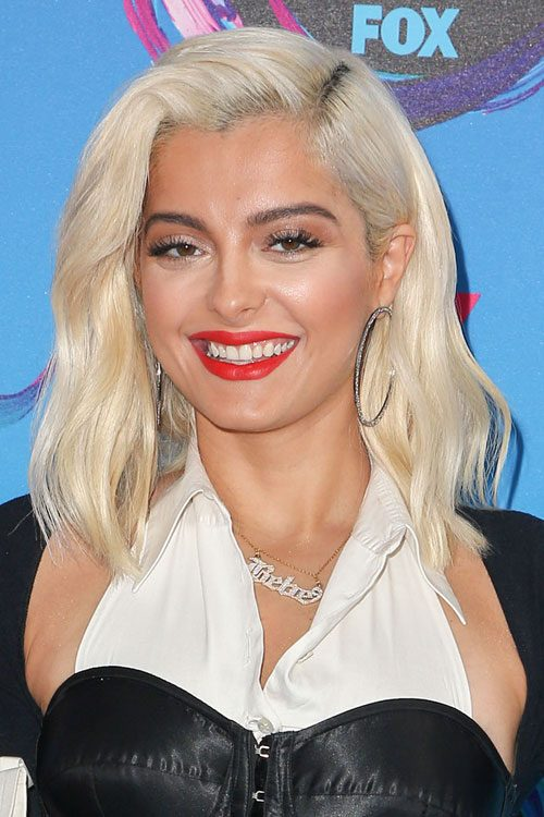 Bebe Rexha Wavy Bob Choppy Layers Hairstyle Steal Her Style