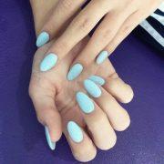 celebrity almond shaped nails