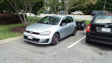 """This isn't """"stunt parking."""" Instead, it's just good planning to find a spot along a curb. :-)"""