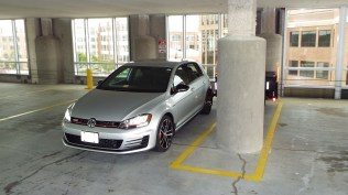 """This was a very difficult """"stunt"""" due to pillar near the wall (not the one beside the car)..."""