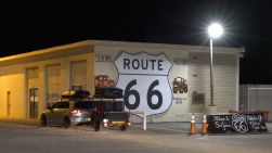 The Rt 66 mural in Seligman during my previous visit...