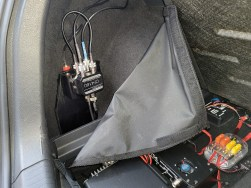 The diplexer setup that allows me to share a single antenna port with three transceivers...