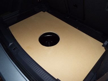 The entire box/panel is made from 3/4″ MDF. This is when I test-fit the base board.