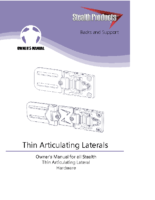 Thin Articulating Lateral Owner's Manual