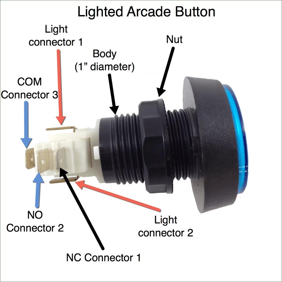 medium resolution of lighted arcade button diagram arcade button installation guide