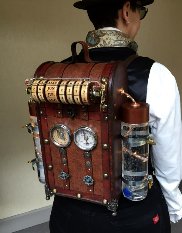 Steampunk Time Machine Backpack Ledger
