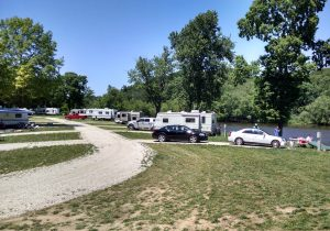 Campground looking north from the pool