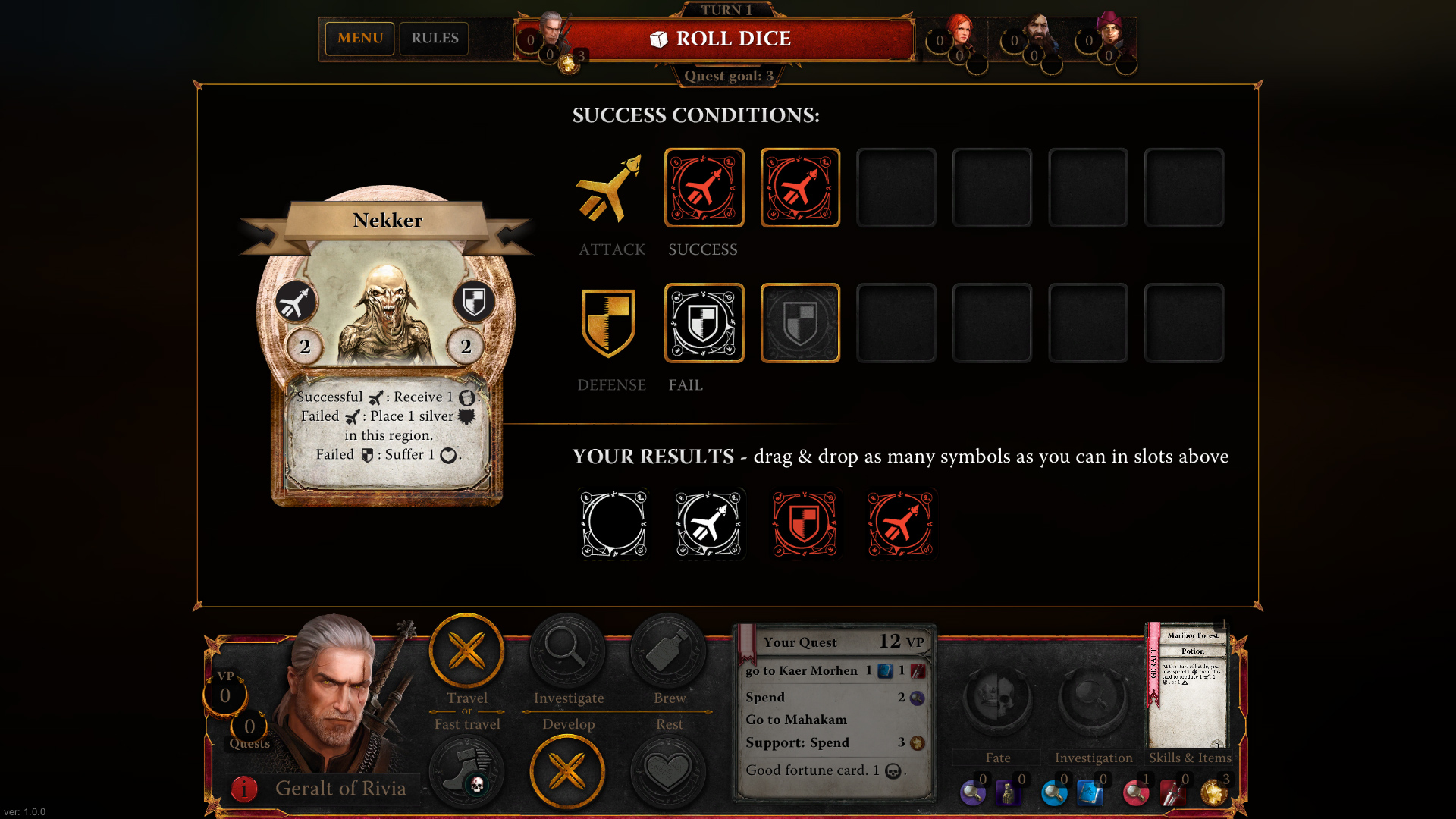 The Witcher Adventure Game screenshot 2