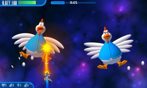 हसिल गेमबार untuk चिकन आक्रमणकारियों