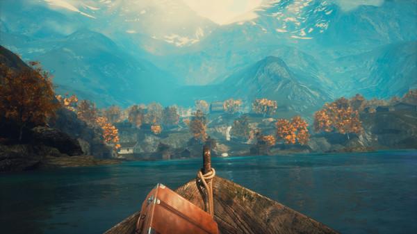 Draugen 山々と湖を見据えて