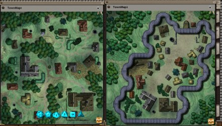 fantasy map village town rpg grounds pack app
