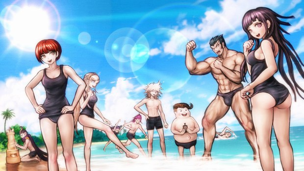 Image result for danganronpa 2 beach cg