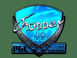 Sticker Chopper Foil Krakow 2017