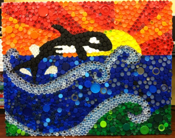 Plastic Bottle Cap Art