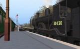 No. 30120 waits for the right away at Bridgnorth