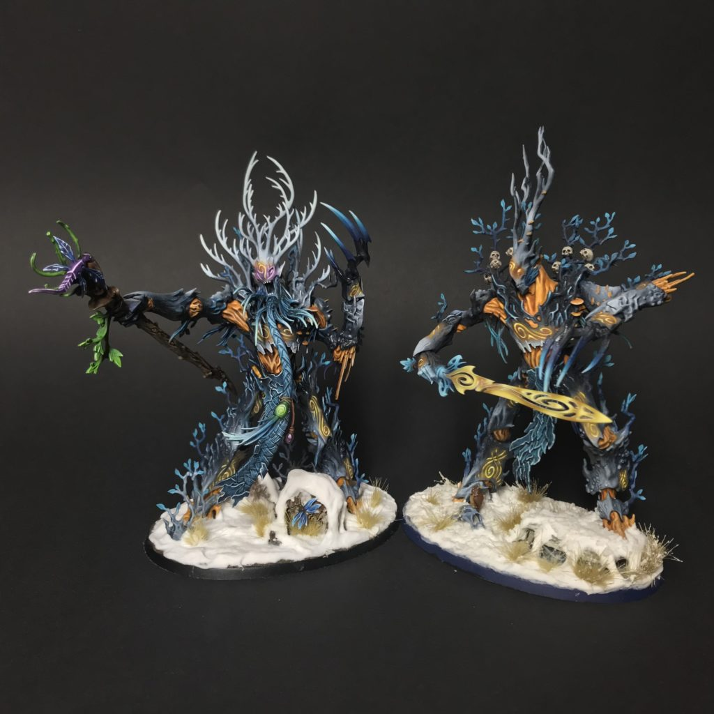 SYLVANETH TREELORD ANCIENT. Table top Miniatures to my Sylvaneth army – Steam Paint