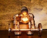 Industrial Style Desk Bedside Lamp - Steampunk Ages