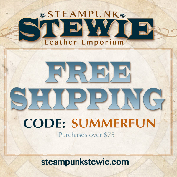 SteampunkStewie Offers Summer Fun Free Shipping!