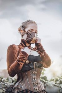 leather Steampunk Face mask 2