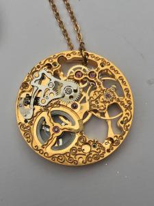 Antique Steampunk Necklace, Vintage Rotary Watch Movement Necklace, Watch Necklace, Neo Victorian Jewelry,Steampunk Jewelry,Steampunk Gifts 3