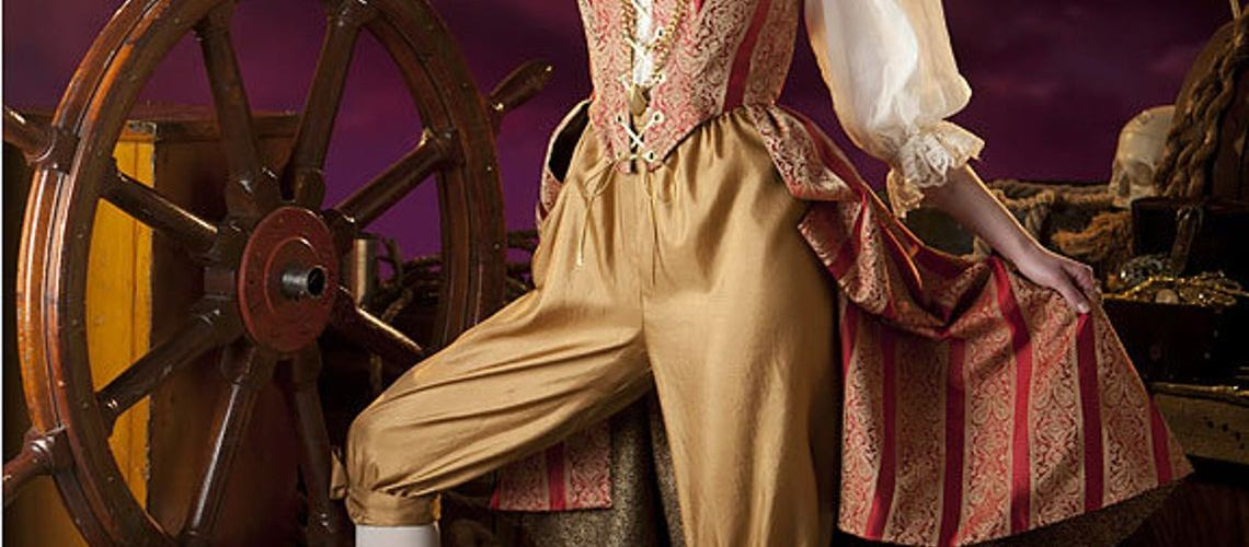Lady's Steampunk Pirate cosplay Costume 1