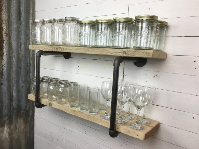 Steampunk industrial Style Shelving
