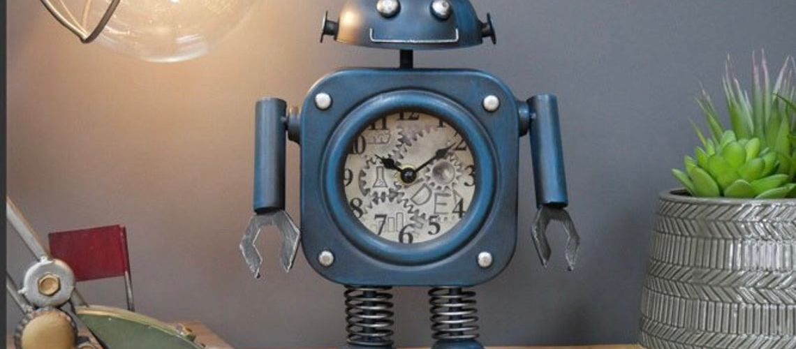 Dieselpunk Style Robot Clock. 1