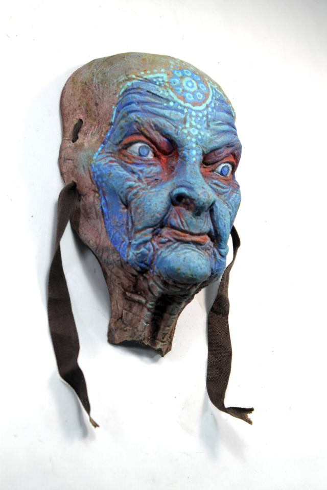 SHINN ANASTASIA. Blue face wall sculpture by Tomas Barcelo. 4