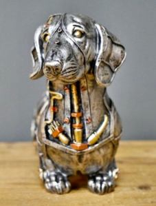 Steampunk Dachshund Sausage Dog Sculpture. 3