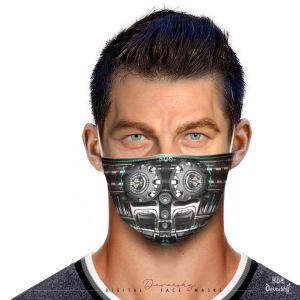 Steel Robot 2050 Face Mask With Filter And Nose Wires - 90009