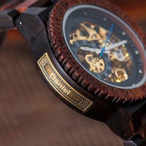 Wooden Steampunk Skeleton Wristwatch Watch. 7