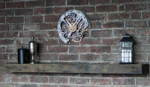 Rustic Steampunk Wall Clock, (with moving gears). Automaton Bite 1682 2
