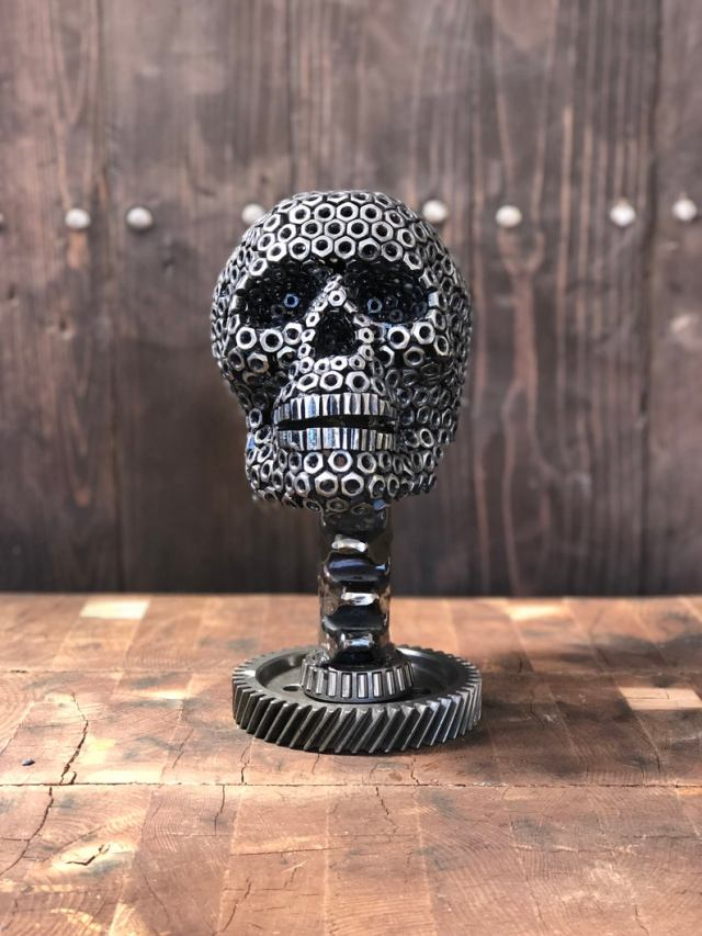 A Nutty Steampunk Skull Sculpture. 1