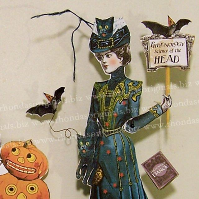 Printable Paper doll Haloween decoration.  4