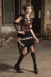 HaoLin Steampunk Victorian Gothic Lace Skirt Pirate Renaissance Costume With Fanny Pack 2