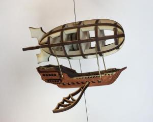 Steampunk Airship String Climbing Model Ready Made. Perfect gift. 1