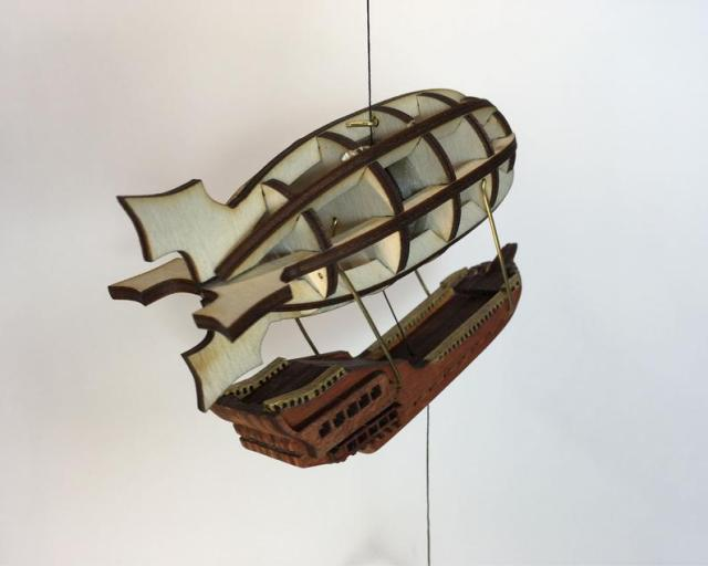 Steampunk Airship String Climbing Model Ready Made. Perfect gift. 3