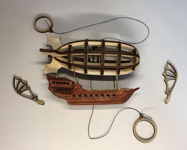 Steampunk Airship String Climbing Model Ready Made. Perfect gift. 4