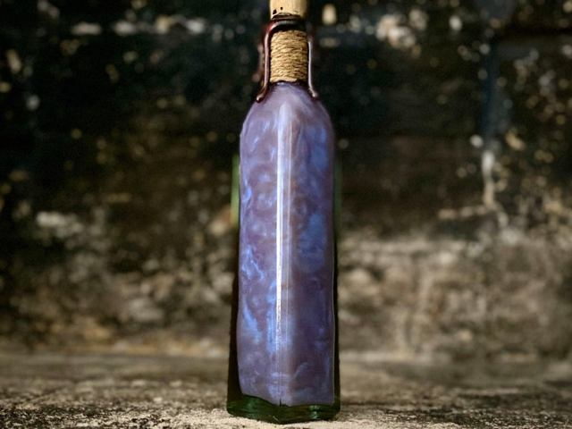 The Draught of Living Death, A Color Change Decorative Potion Bottle, Apothecary Jar  6