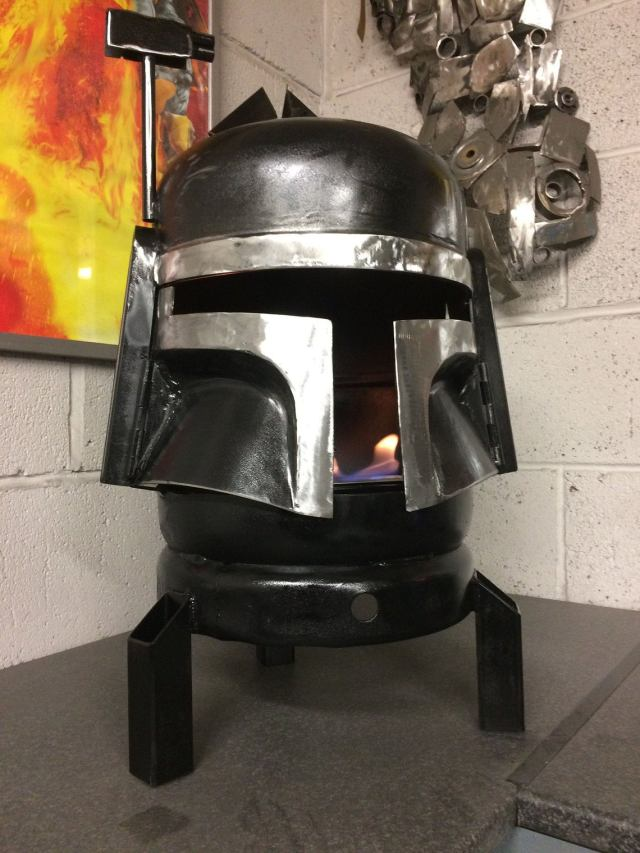 Boba Fett Wood Burner - Boba Fett Fire Pit - Star Wars Fire Pit - Metal Art - Fire Pit - Wood Burner - Star Wars Gifts 1