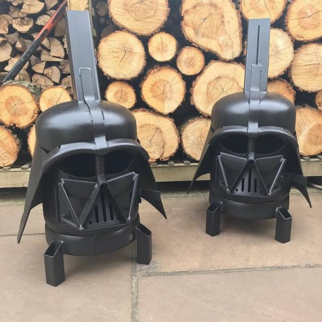 Darth Vader Wood Burner - Darth Vader Fire Pit - Star Wars Fire Pit - Darth Vader Helmet - Metal Art - Fire Pit - Wood Burner 4
