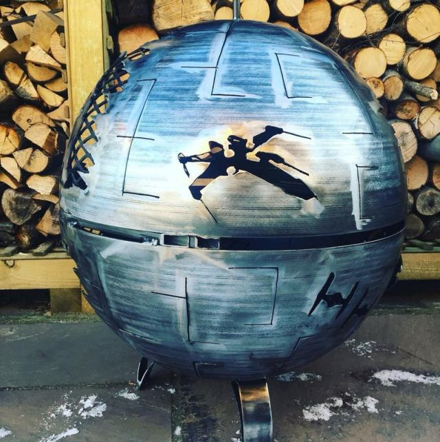 Death Star Wood Burner - Death Star Fire Pit - Star Wars Fire Pit - Death Star - Metal Art - Fire Pit - Wood Burner  1