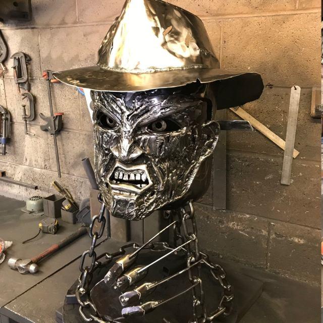Freddy Krueger Wood Burner - Halloween Fire Pit - Halloween Wood Burner - Nightmare on Elm Street - Fire Pit - Freddy Krueger  3