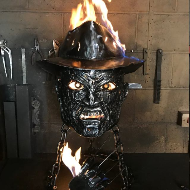 Freddy Krueger Wood Burner - Halloween Fire Pit - Halloween Wood Burner - Nightmare on Elm Street - Fire Pit - Freddy Krueger  6