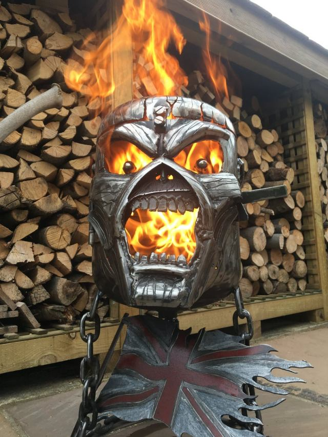Iron Maiden Fire Pit - Iron Maiden Wood Burner - Eddie Fire Pit - Eddie Wood Burner - Metal Art  1