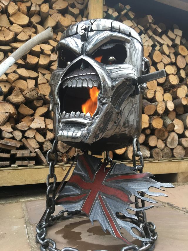 Iron Maiden Fire Pit - Iron Maiden Wood Burner - Eddie Fire Pit - Eddie Wood Burner - Metal Art  3